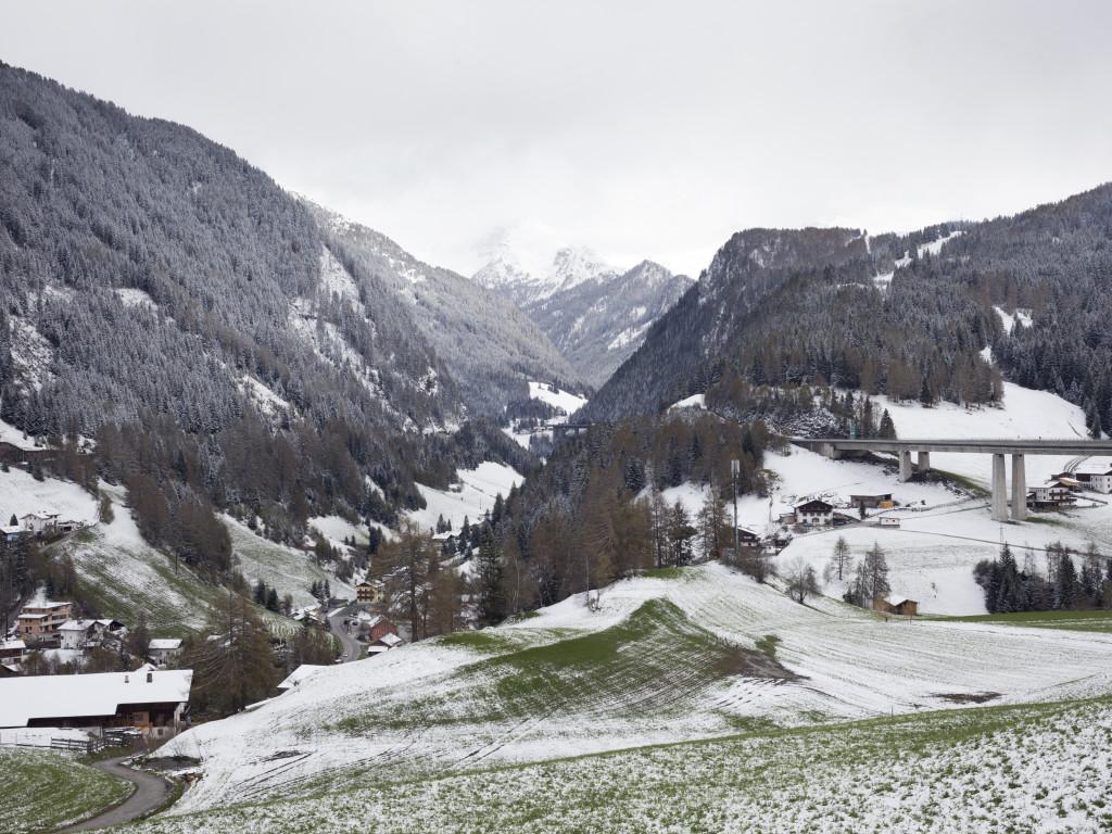 Brennero. Veduta dal lato austriaco della valle verso sud.